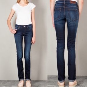 Acne Kex Soft Raw Dark Blue Skinny Jeans